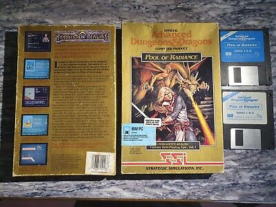 AU80 • Buy Pool Of Radiance DOS Complete 3.5 SSI Gold Box AD&D Dungeons Dragons