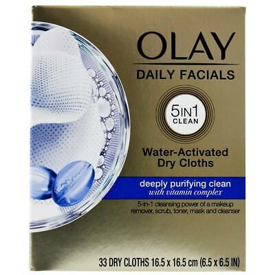 AU18 • Buy Pack Of 33 Olay Daily Facials 5 In 1 Water Activated Dry Cloths