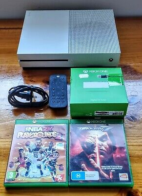 AU125 • Buy Xbox One S Console 500GB White With Tekken 7, NBA Playgrounds 2 & Accessories