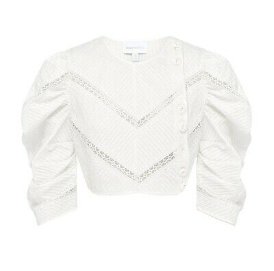 AU30 • Buy Alice McCall A Foreign Affair Crop Top Porcelain Size 10 RRP$245