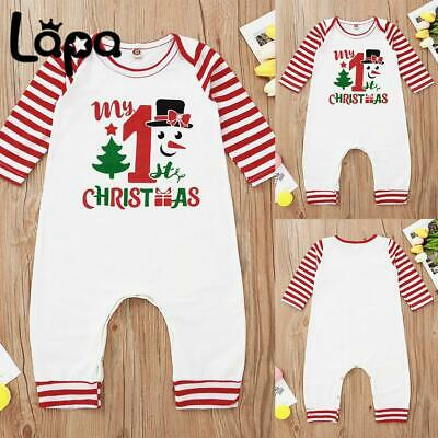 £8.99 • Buy Lapa Christmas Baby Boy Girl Romper Jumpsuit Newborn Infant Outfits Clothes Set