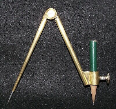 £10 • Buy Vintage Solid Brass School Geometry  Drawing Compass - 12 Cm