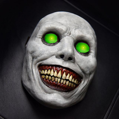 £15.96 • Buy LED Glowing Horror Scary Halloween Mask Smile White Face Demon Cosplay Mask Prop