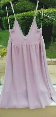 £12 • Buy Zara Knitted Cami Dress With Lace Trim In Lilac, Size M