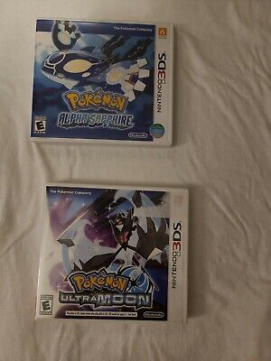 $20 • Buy Pokemon: Alpha Sapphire (3DS, 2014) And Pokemon Ultra Moon Cases Only!! No Games
