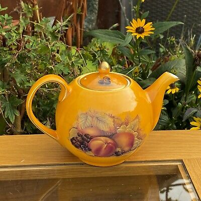 £185 • Buy Aynsley Orchard Gold Very Pretty Small Lidded Teapot - Made In England