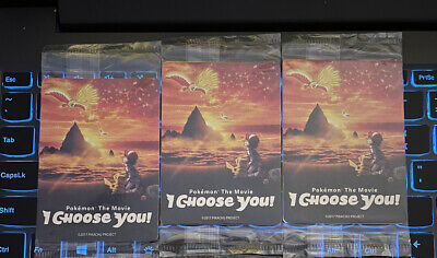 $0.99 • Buy Pokemon The Movie I Choose You 3 Card Promo Pack Ash's Pikachu SEALED Lot Of 3