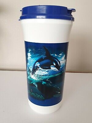 £17.99 • Buy Sea World Plastic Cup Lid And Straw Refillable 1999 Whale