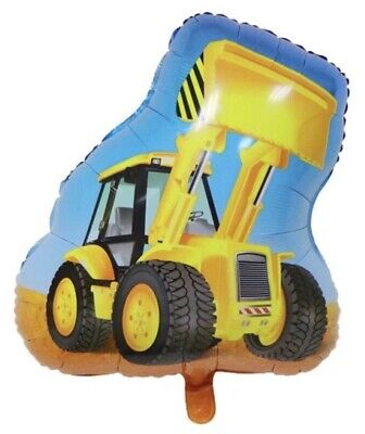 AU5.62 • Buy Large Tractor Digger Bulldozer JCB Vehicle Foil Balloon Children Birthday Party