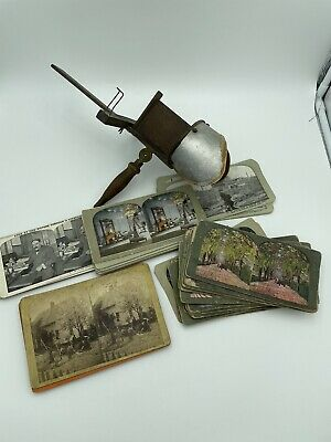 £141.59 • Buy Antique H.C. White Stereoscope PERFECSCOPE Viewer + 63 Cards 19th/20th Century