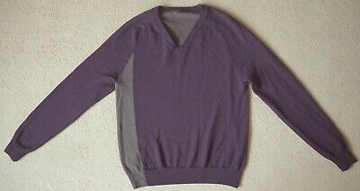 £22 • Buy Fred Perry Men's V-neck Jumper Sweater, S,  Wool, Mauve / Grey, Excellent Cond.