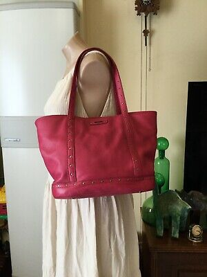 AU59.23 • Buy Beetroot Red OROTON Peppled Leather Hand Bag Tote Bag