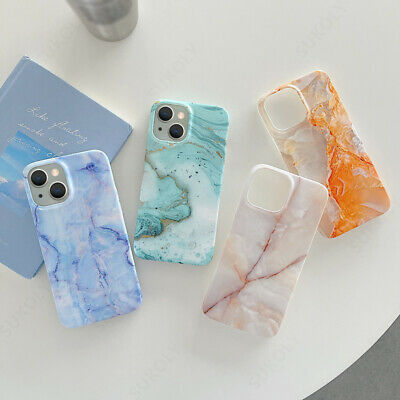 AU6.29 • Buy Case For IPhone 13 12  Pro Max XR XS 8 7 Plus Shockproof Marble Soft Epoxy Cover