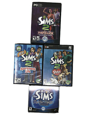 £13.76 • Buy The Sims 2 Expansion Pack Game Lot, Pets, Nightlife, Apartment Life, Makin Magic