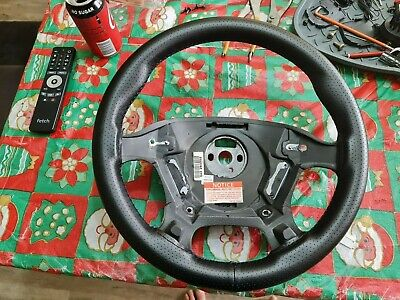 AU185 • Buy  VR VS Commodore Leather Perforated Steering Wheel NON Air Bag Type No Switches