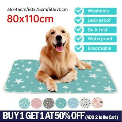 £11.49 • Buy Pet Pee Pads Mats Puppy Training Pad Toilet Wee Cat Dog Supplies Washable Large