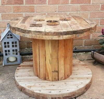 £29.99 • Buy Wooden Electric Cable Drum Perfect As Coffee Patio Table Bookshelf Clock S Size