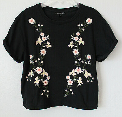 £3.64 • Buy Topshop Women's Embroidered Tee Size S (US 4; UK 8; EUR 36)