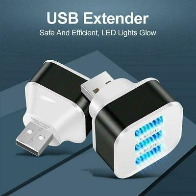 AU2.30 • Buy 3 Ports Expander Charger USB 3.0 Hub Splitter Adapter For PC Laptop Pcs 1 New