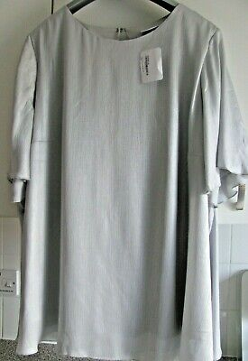 £12 • Buy Women's Yessica Silver Grey Shiny Top Tunic NWT Size 24