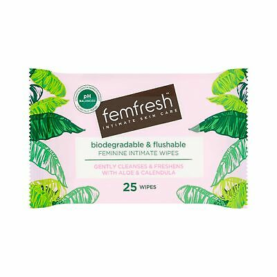 £3.68 • Buy Femfresh Daily Wipes - Biodegradable & Flushable, Pack Of 25 Wipes (Packaging...