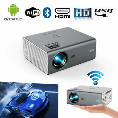 £211.15 • Buy 4000lm Portable Android WiFi Smart Projector Blue Tooth Airplay For IPhone TV UK