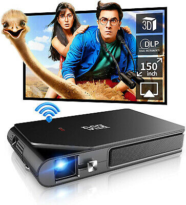 £298.91 • Buy WiFi 7000:1 Pico DLP 3D Projector Full HD Wireless Airplay For IPhone Meeting UK