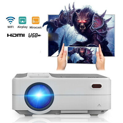 £157.32 • Buy Full HD Portable Cinema Projector WiFi Wireless Mirror Screen Airplay For IPhone
