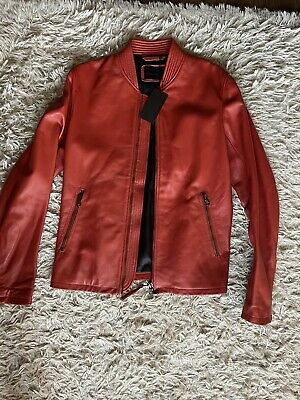 £180 • Buy Diesel Black Gold Lamb Leather Jacket Size 48 (m)100% Authentic Made In Italy