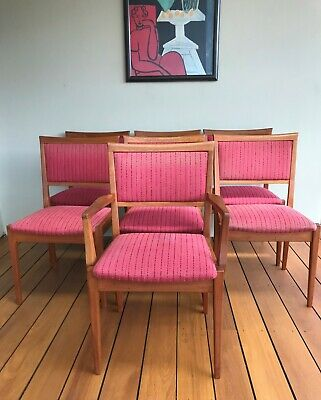 AU700 • Buy Parker Dining Chairs ~ 6 Chairs & One Carver ~ Mid Century ~ Vintage Retro Set