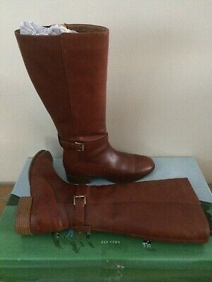 £89.95 • Buy BNWT Joules Tan Leather Rosa Tall Boots Size 8 EU 42 Boots Rrp £169.00