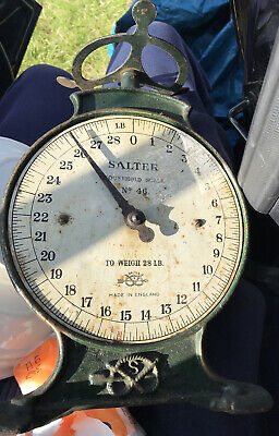 """£40 • Buy Vintage Cast Iron """"SALTER"""" Household Scales No.46 To Weigh 28lb"""