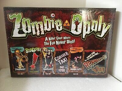 £14.99 • Buy Zombie Opoly Zombie Monopoly Themed Board Game 2012 Late For The Sky New Sealed