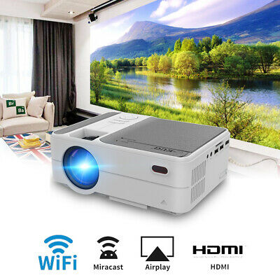 £152.99 • Buy 3500lms Full HD Portable Cinema Video Projector WiFi Airplay For IPhone HDMI USB