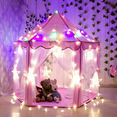 £42.99 • Buy Kids Fairy Princess Castle Play House Toy Tent Pops Up Tent Indoor W/ Light Gift