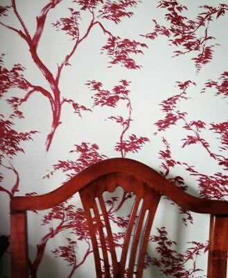 £19.99 • Buy John Lewis Wall Paper Japanese Tree Red 1 Roll