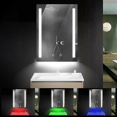 £54.99 • Buy LED Bathroom Mirror With RGB Light Dimmer Shaver Socket /Demister /Touch Switch