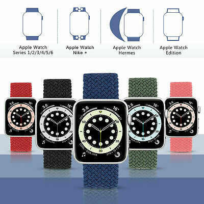 AU15.99 • Buy Braided Nylon Band Solo Loop Strap For IWatch Apple Watch Series 7 41mm 45mm