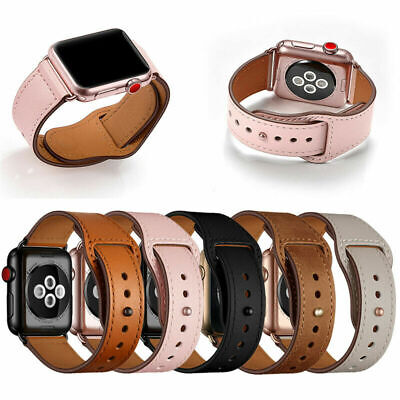 AU16.99 • Buy 7gen Leather Soft Watch Band Strap For Apple Watch IWatch Series 7 41mm 45mm