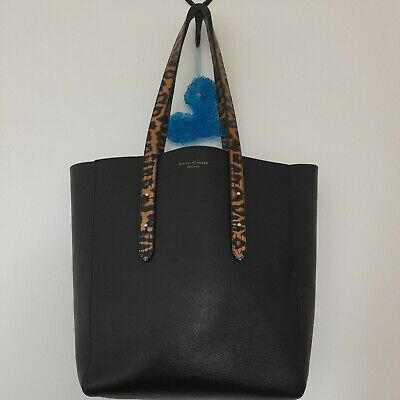 £125 • Buy Stunning Aspinal Of London Essential Leather Tote Bag With Leopard Handles