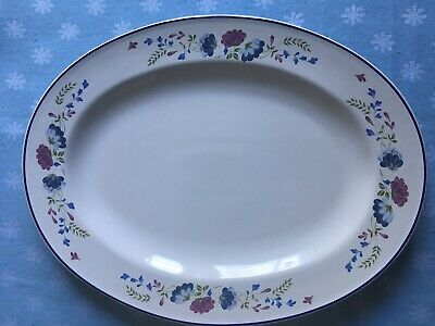 £12 • Buy Bhs Priory Oval Meat Plate Serving Platter 14 Inches