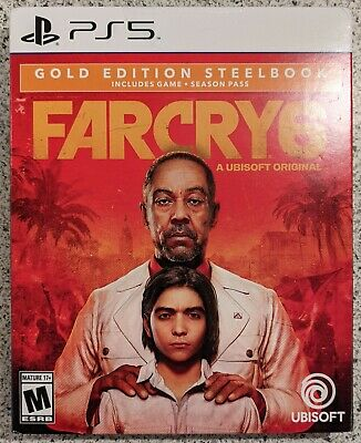 AU114.51 • Buy Far Cry 6 Gold Edition Steelbook PlayStation 5 PS5 Brand New In Hand Ships Today