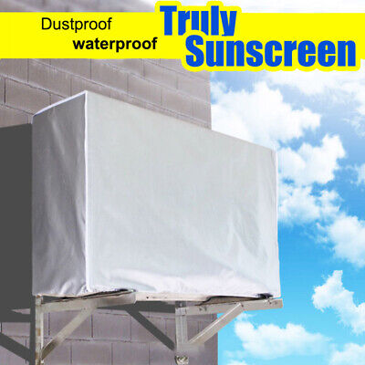 AU13.99 • Buy Outdoor Air Conditioner Cover Waterproof Anti-Dust Sunscreen Cover Protectors AU