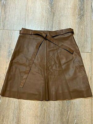 AU40 • Buy Massimo Dutti Pleather Brown A Line Skirt Size M