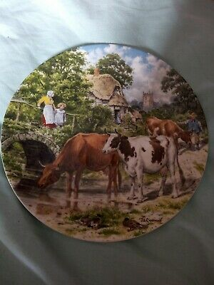 £2.90 • Buy Wedgwood Queen's Ware Life On The Farm A Cooling Drink   Display Plate