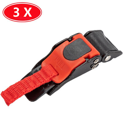£6.89 • Buy 3x Motorcycle Helmet Clip Chin Strap Quick Release Buckle Autocycle New