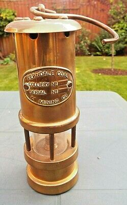 £25 • Buy Ferndale Coal Mining Co, Vintage Brass Miners Lamp, Original Condition