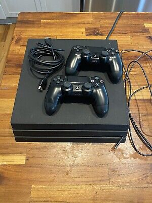 AU639.77 • Buy Sony Playstation 4  Pro 1TB Console - CUH-7215B  Used PS4 PRO 2 Controllers