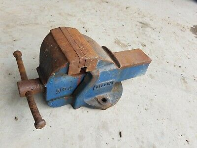 £60 • Buy Vintage Record No.4 Bench Vice Engineering No 4 Blue Metal Work Made In England
