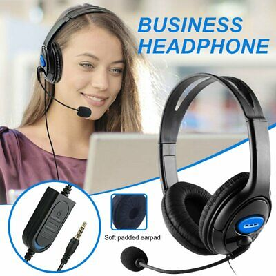 AU16.99 • Buy Business/ Gaming Headset With Mic Stereo Headphones With Mic For Laptop PC PS4